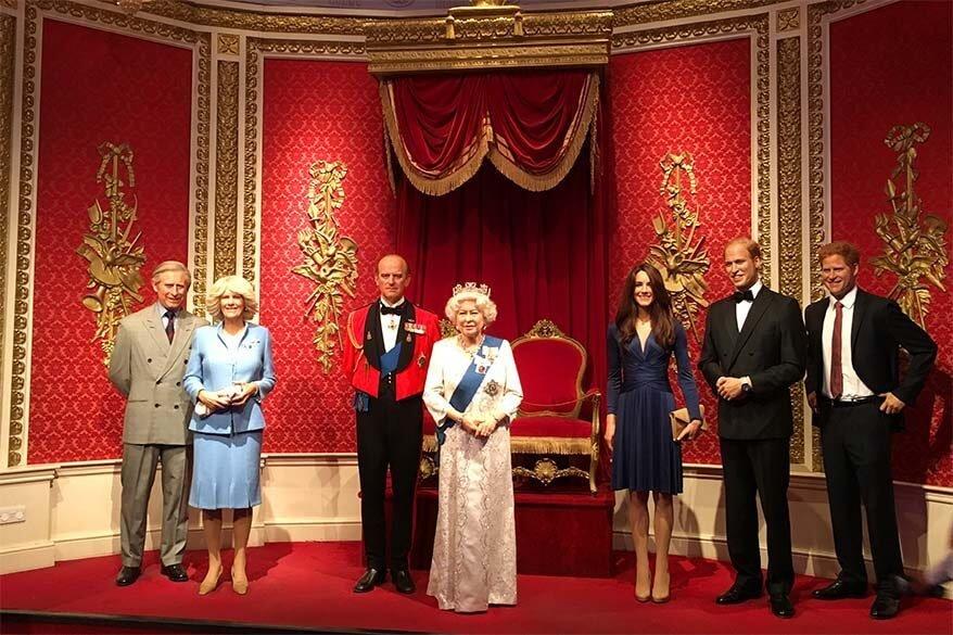 British Royal family at Madame Tussauds London