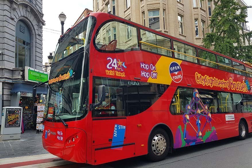 Brussels sightseeing bus (hop on hop off bus)