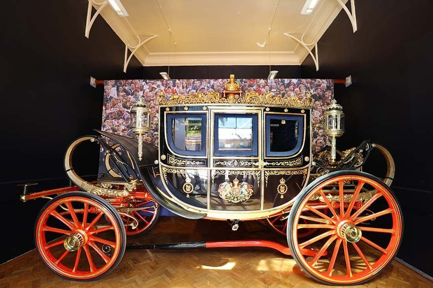 Carriage at the Royal Mews, Buckingham Palace