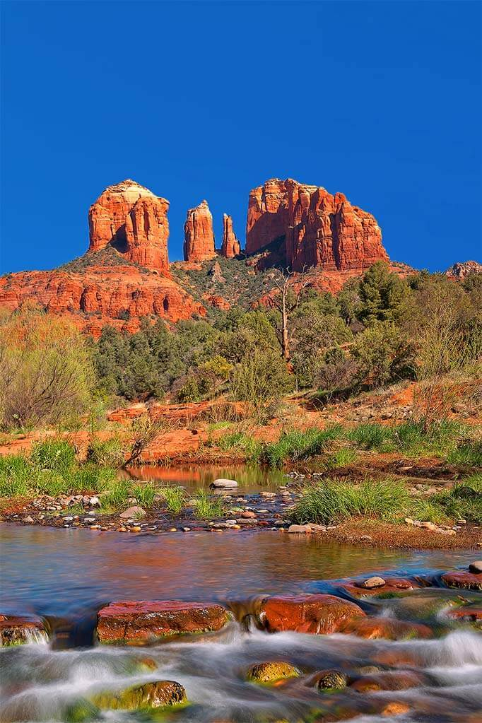 Cathedral Rock as seen from Red Rock Crossing in Sedona