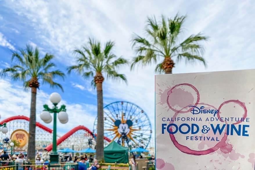 Disneyland California during Food and Wine Festival in spring