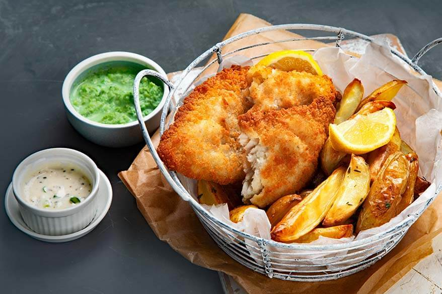 Fish and chips - British food
