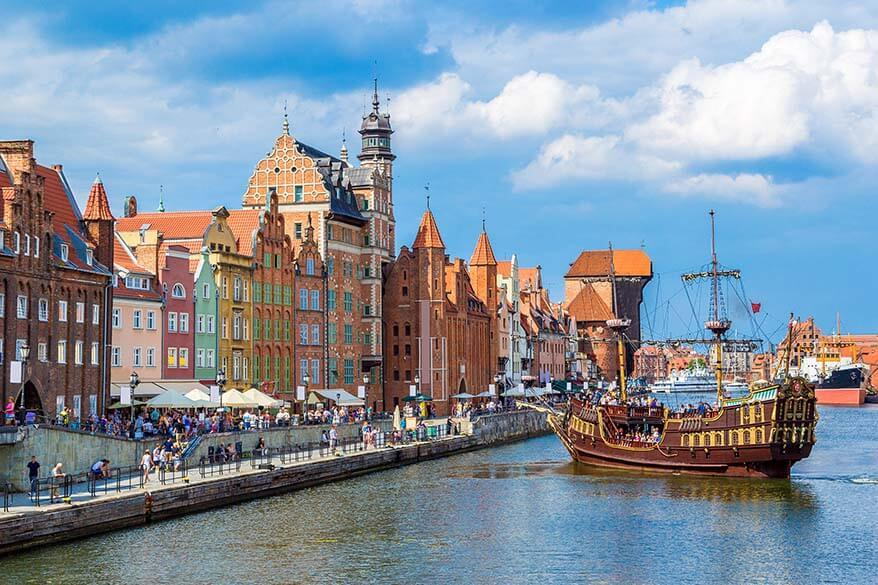 Gdansk city in Poland is a beautiful destination to visit in Europe in spring