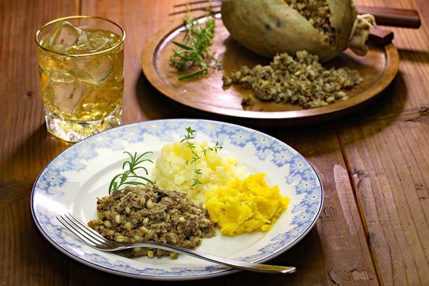 Haggis Neeps and Tatties - traditional Scottish dish