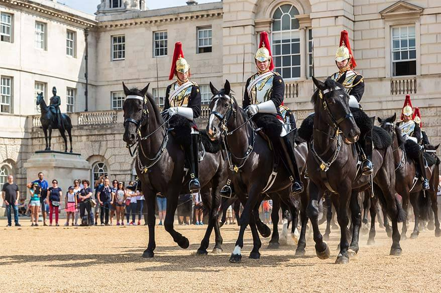 Horse Guards at the Household Cavalry Museum in London