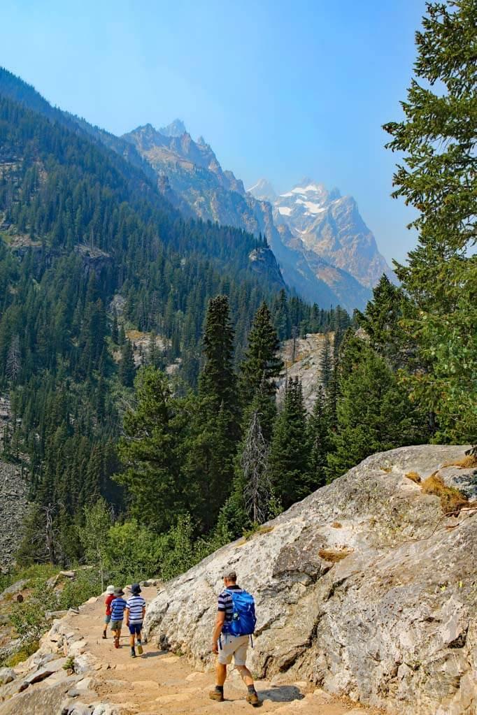 Inspiration Point hike Grand Teton National Park