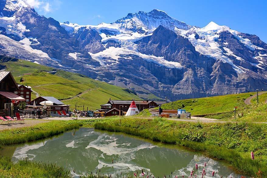 Jungfrau mountain scenery at Kleine Scheidegg in Switzerland