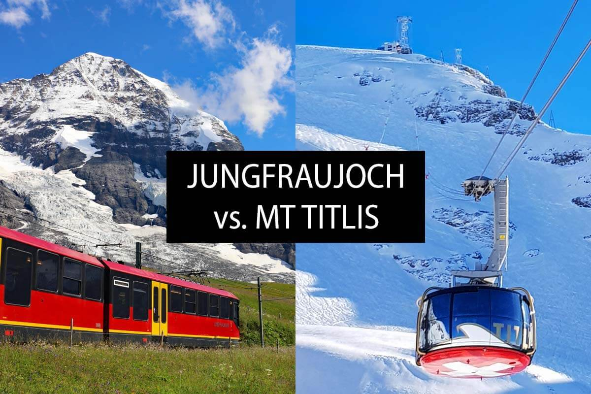 Mt Titlis vs. Jungfraujoch: Which is Better & Why