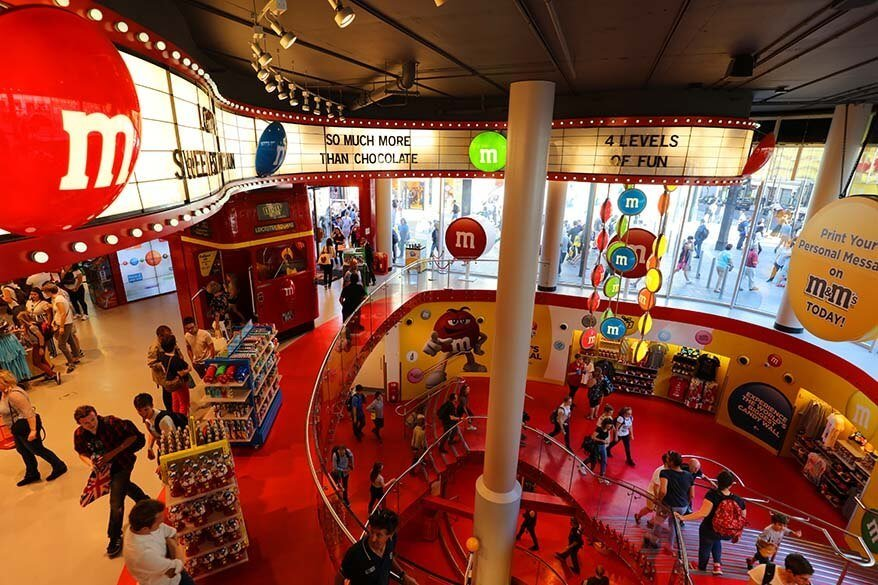 M&M's World at Leicester Square in London