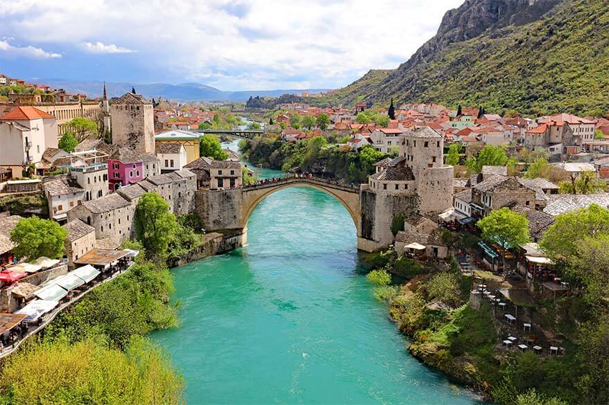 Mostar in the spring