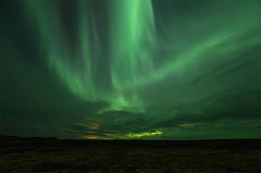 Northern Lights display in Iceland in September