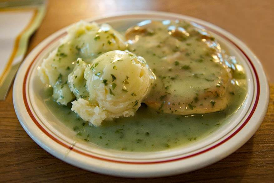 Pie Mash and Liquor - traditional London dish
