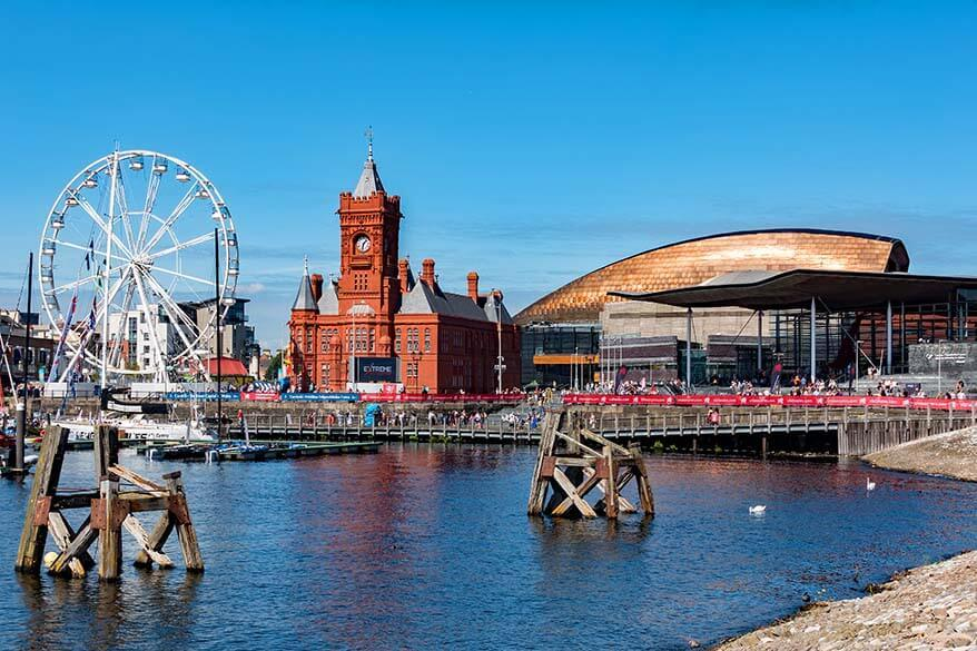 Pierhead and Wales Millennium Centre at Cardiff pier
