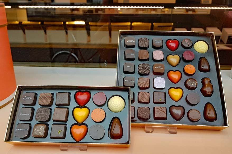 Pierre Marcolini chocolate shop in Brussels