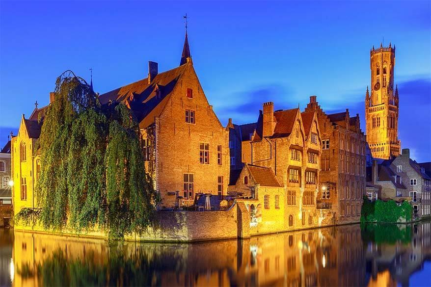 Rozenhoedkaai in Bruges Belgium