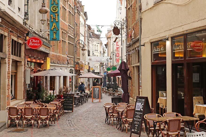 Rue des Bouchers in Brussels