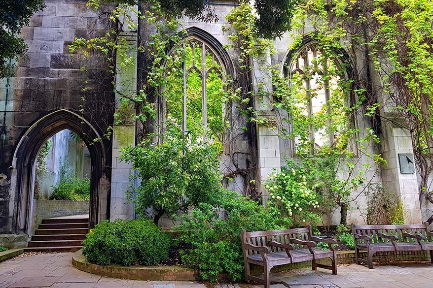 Saint Dunstan in the East in London in spring