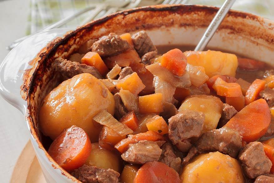 Scouse - traditional English dish from Liverpool