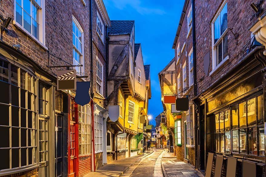 Shambles street in York city UK