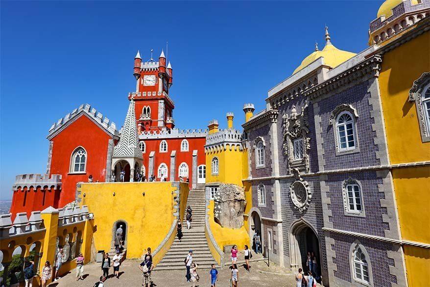 Sintra in Portugal in spring