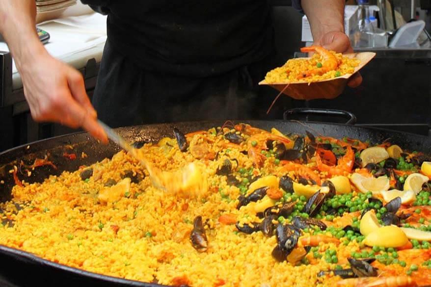 Street food at Borough Market in London