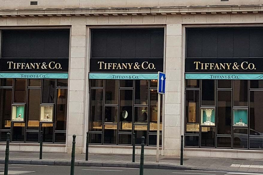 Tiffany & co store in Brussels