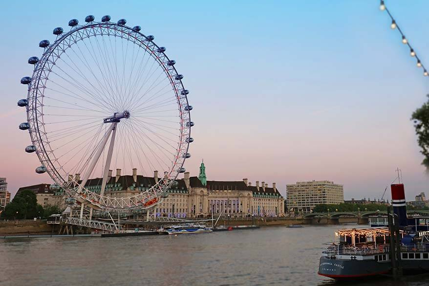 Top London Sights - London Eye