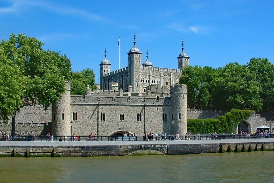 Tower of London - one of the top landmarks in London