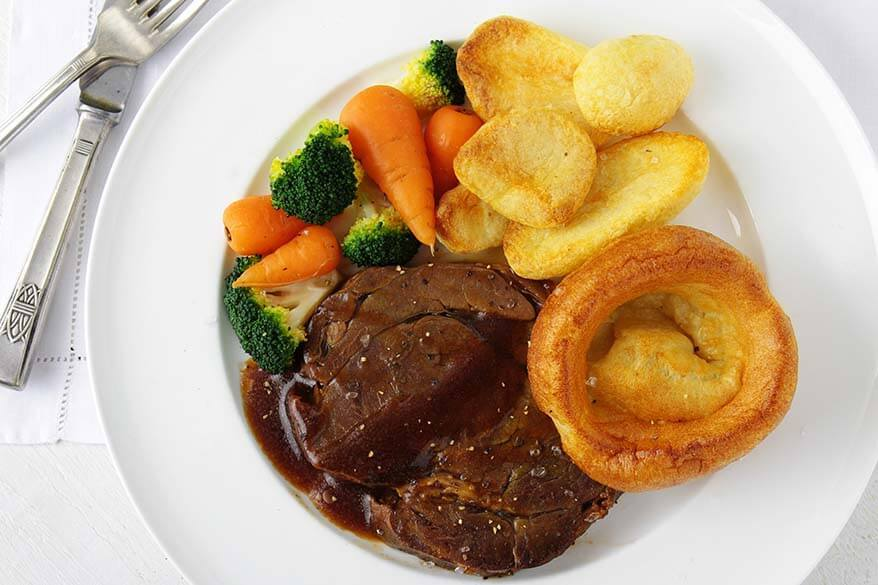 Traditional British food - Sunday Roast