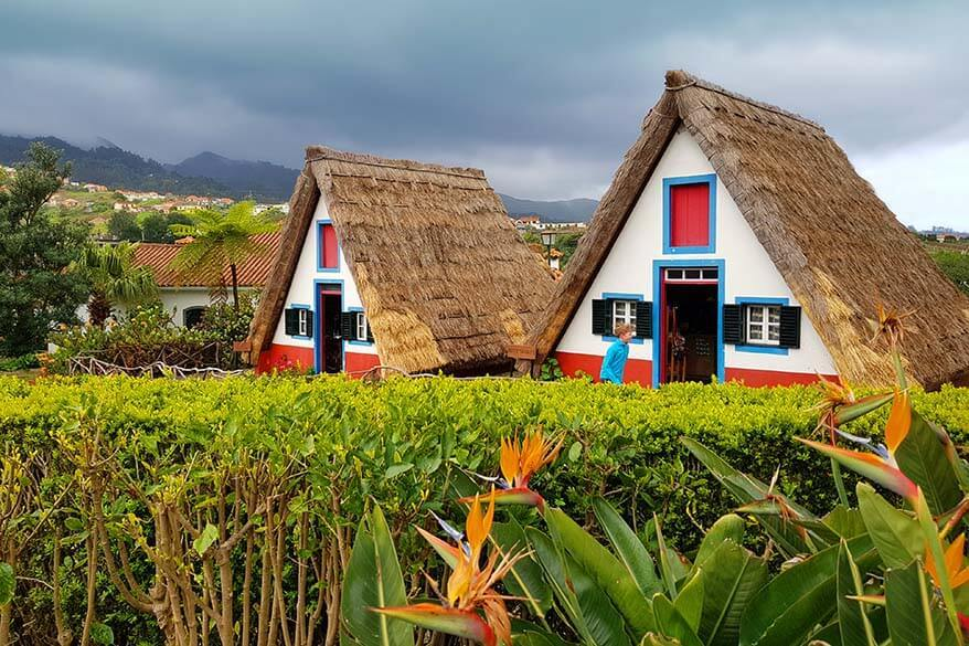 Traditional Houses in Santana Madeira in spring