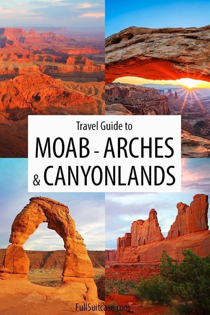 Travel guide to Moab, Arches National Park, and Canyonlands National Park in Utah USA