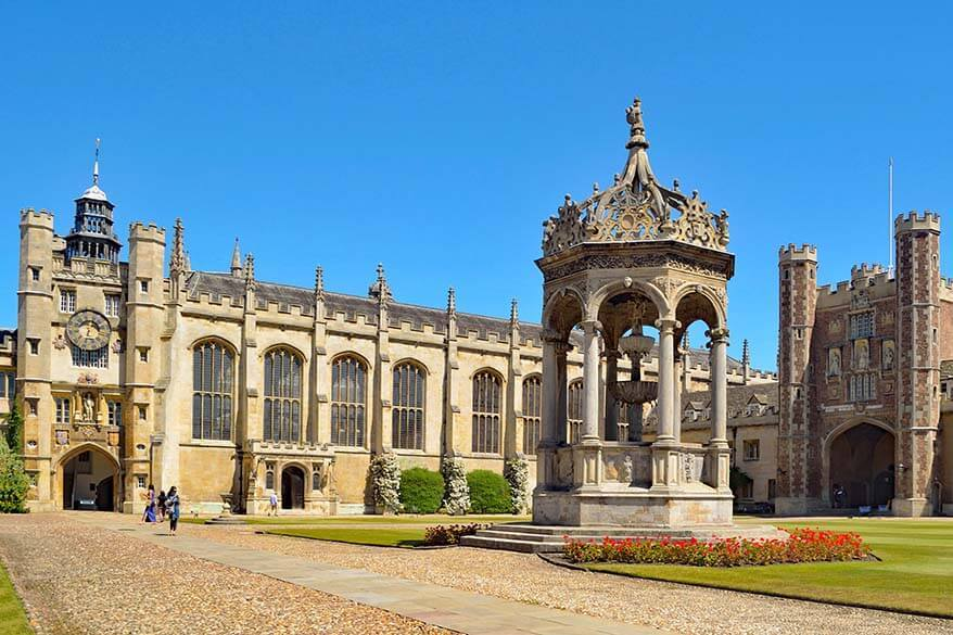 Trinity College in Cambridge UK