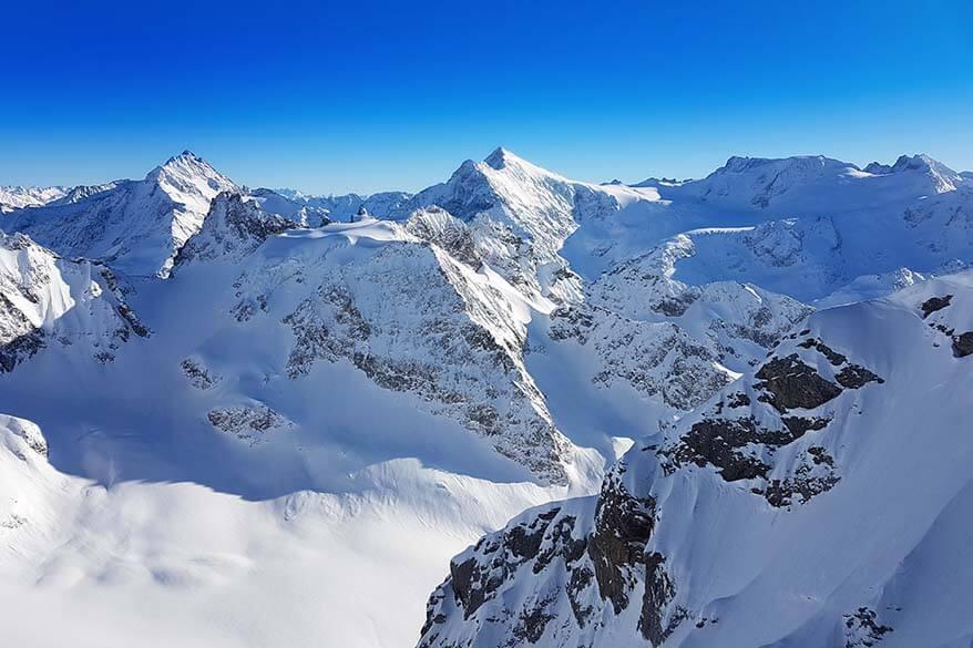 Views at Mount Titlis in Switzerland