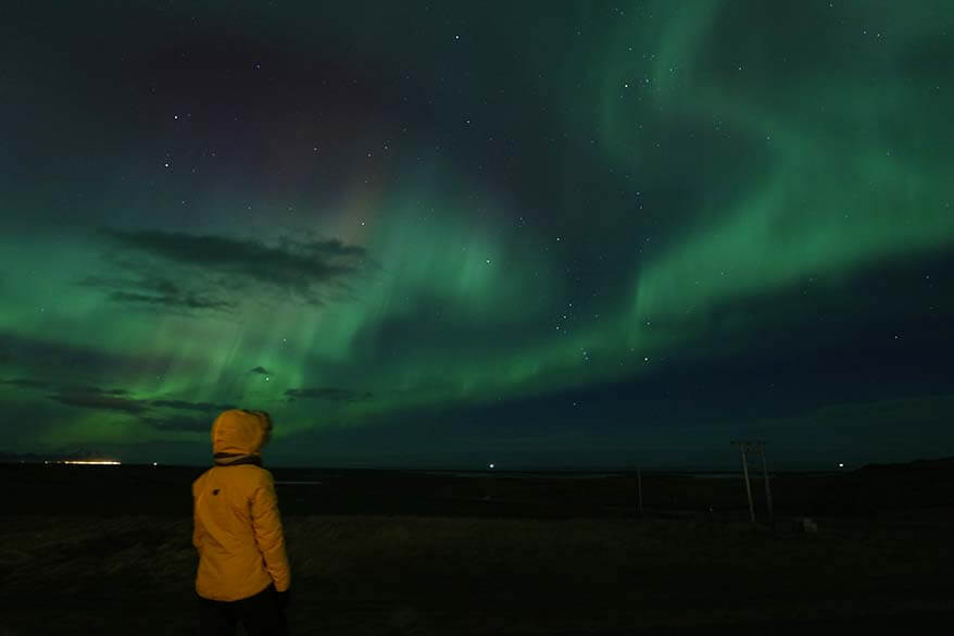 What to wear for watching Northern Lights in Iceland