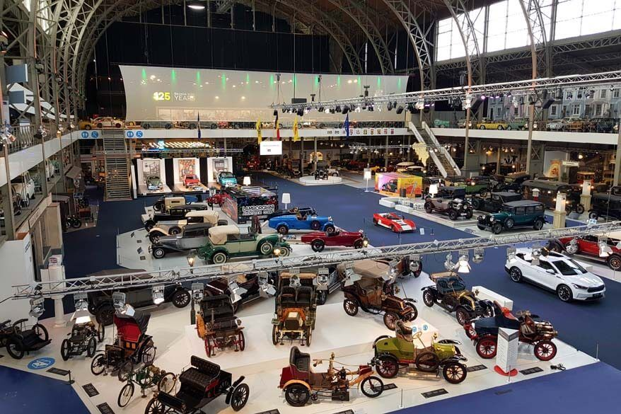 Autoworld museum at the Cinquantenaire Park in Brussels