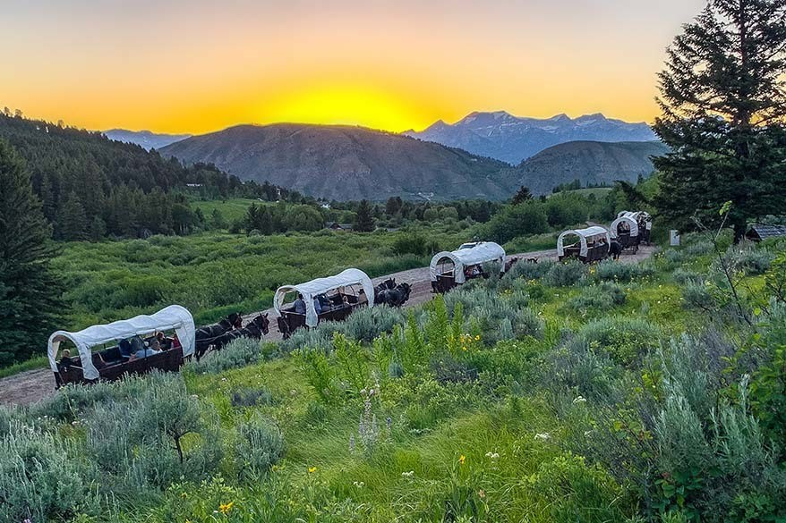 Best things to do in Jackson Hole - chuckwagon ride and dinner