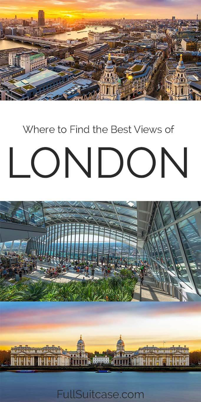 Best views in London and viewpoints map