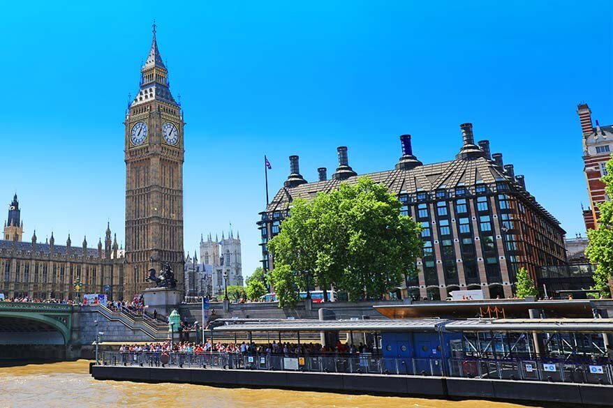 Big Ben as seen from the Thames cruise boat