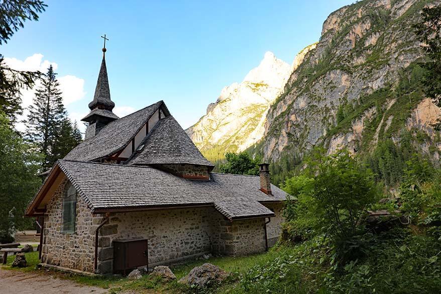 Chapel Lago di Braies