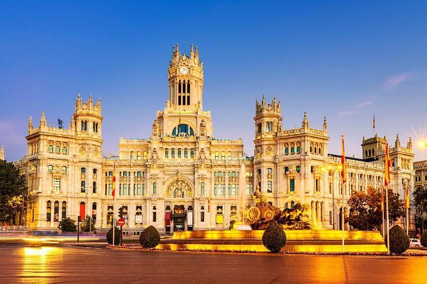 Cybele Palace (Palacio de Comunicaciones) in Madrid
