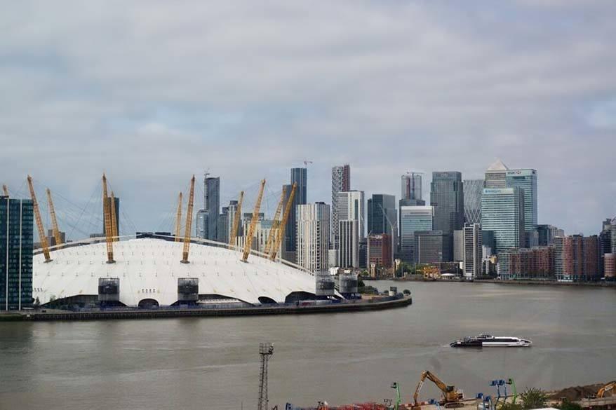 Emirates Air Line views in London