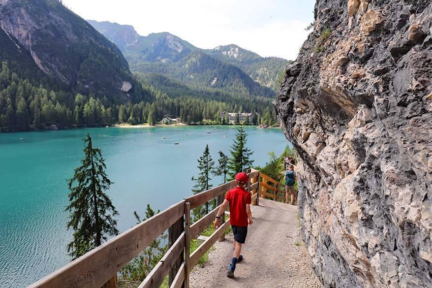 Hiking around Lago di Braies