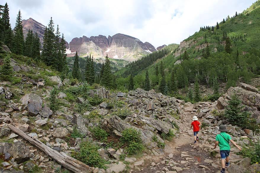 Hiking in Aspen in summer