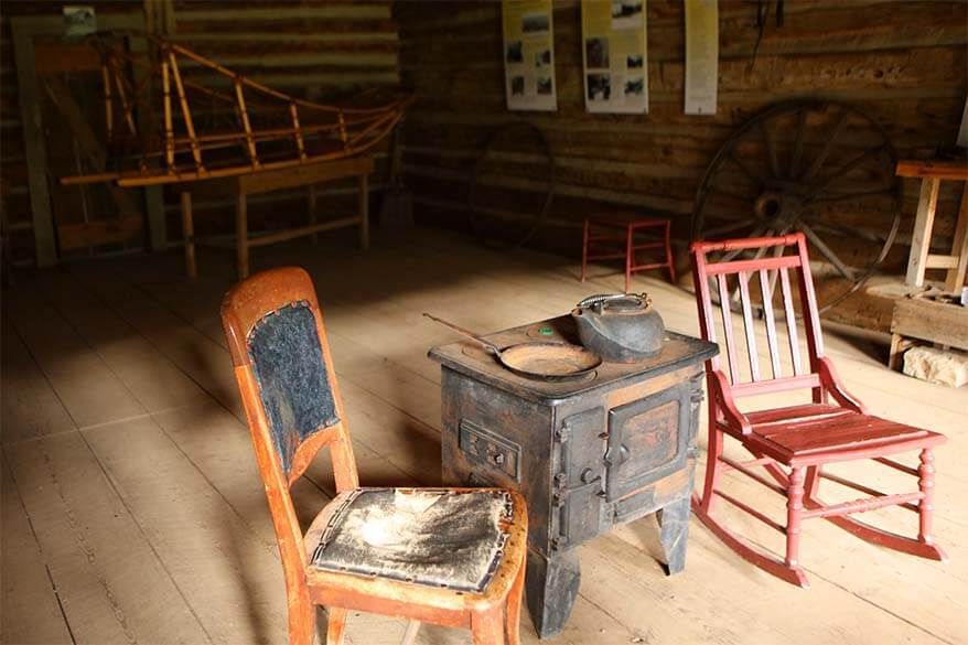 Interior of abandoned buildings in Ashcroft Ghost Town, Aspen Colorado