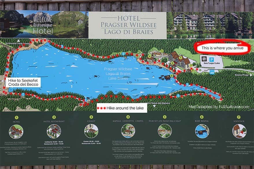 Lago di Braies map