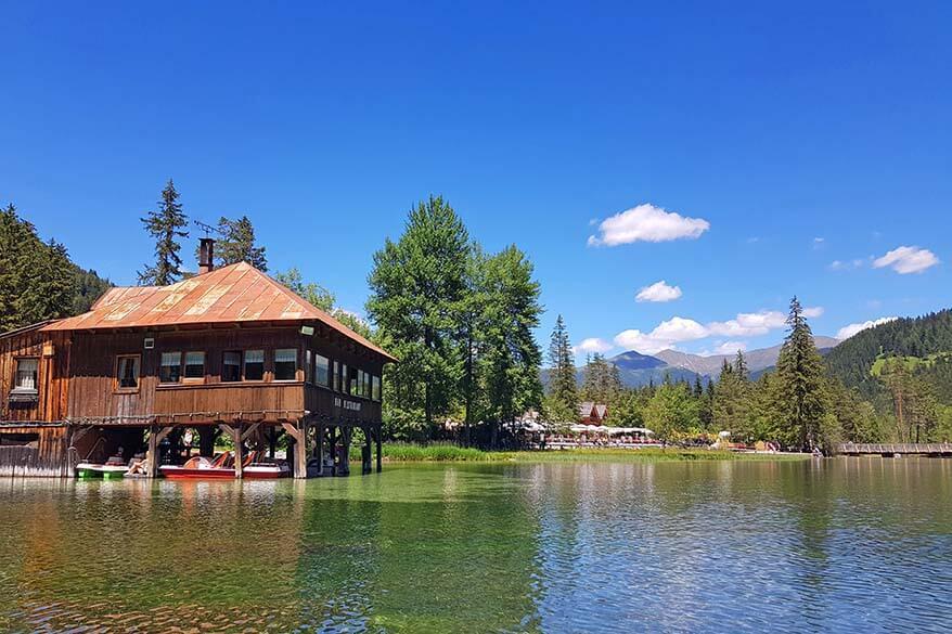Lago di Dobbiaco restaurant and boat rental