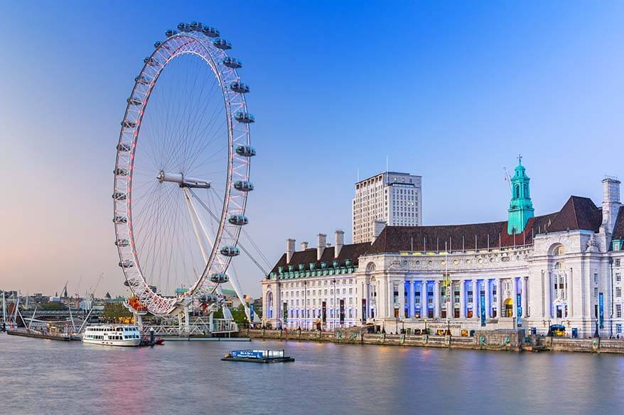 London Eye as seen from Westminster Bridge