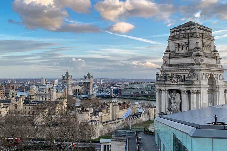 London Views from Savage Garden Bar