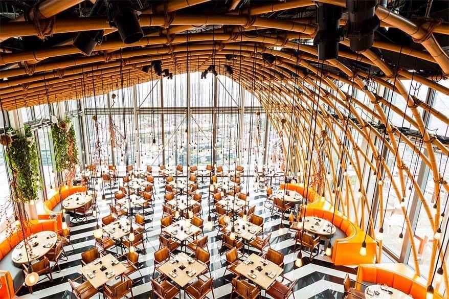 London restaurants with best views - SUSHISAMBA London Heron Tower