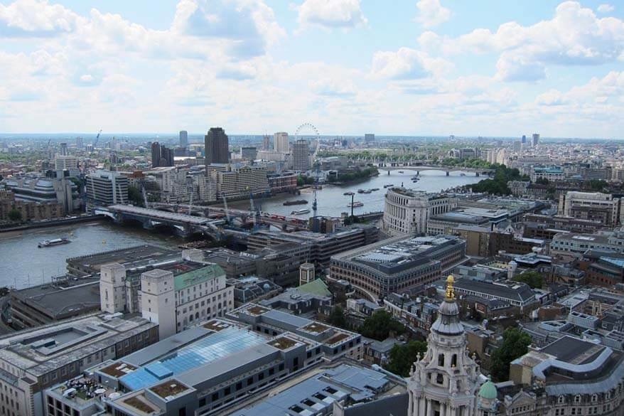 London view from St Paul's Cathedral Golden Gallery